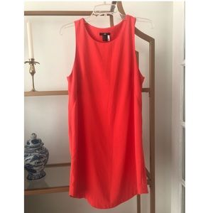 H&M Sleeveless Dress in Bright Orange